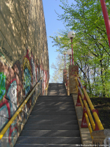 Treppe graffiti
